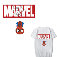 Superhero Patch Iron on Transfer Letter Patches for Kids Clothing DIY T-shirt Applique Heat Transfer Vinyl Stickers Hear Press iron on heart mouse patches for kids girl clothing diy t shirt dresses applique heat transfer vinyl thermo letter patch stickers