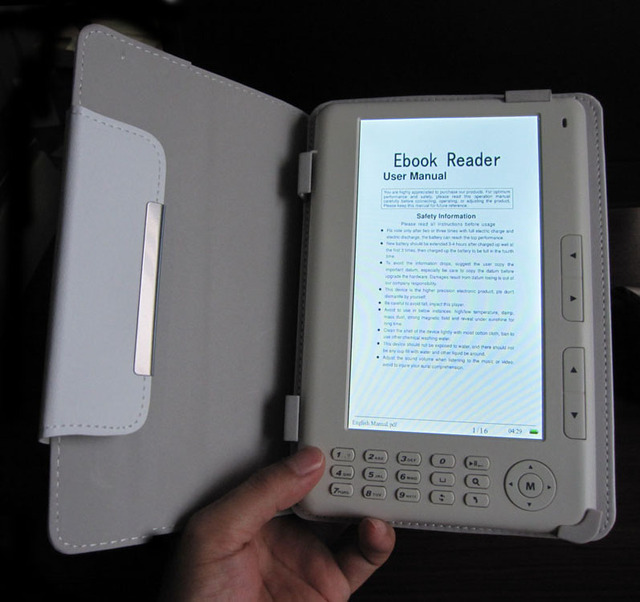 hq 7 inch e book reader 8gb capacity memory ebook with mp3 mp4 etc