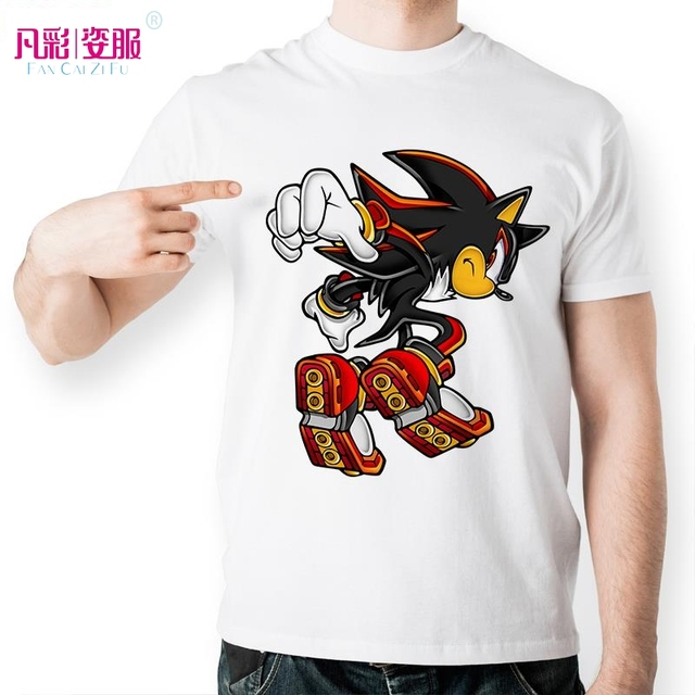 Shadow The Hedgehog T Shirt Design Inspired By Sonic T Shirt Style