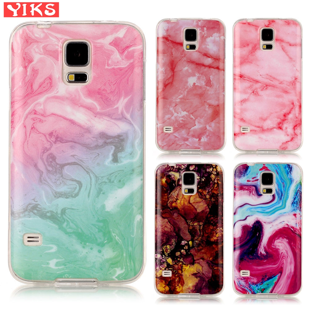 Painting Soft Case For Samsung Galaxy Pink Red Stone Silicone Case Girl for  Galaxy S5 i9600 G900F