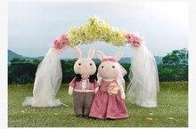 a pair of wedding coat rabbit toys cute lovely cartoon rabbit dolls wedding gift about 38cm