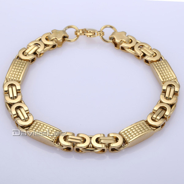 240c7efcb09c Davieslee Bracelet for Men Glass Map Stone Beads Chain Cut Cable Link  Stainless Steel Black Gunmetal Tone Mens Bracelets DDB33USD 4.99-8.99 piece