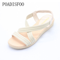 2017 Bohemian Women Summer Sandals Low Heel Flip Flat Sandals With Sunflower Beads Flat Flat Sandals