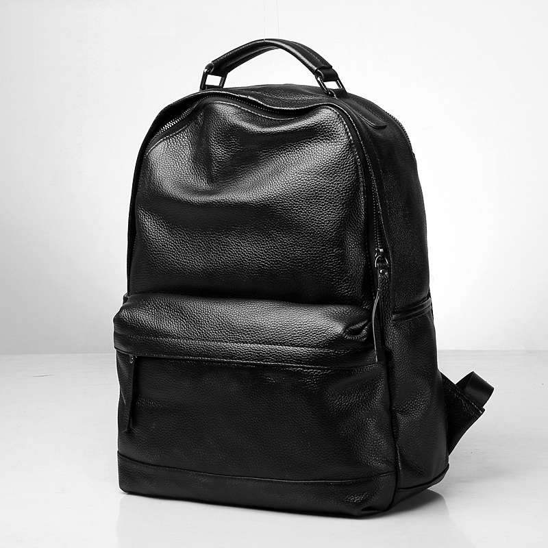 Luggage & Bags Genuine Leather Backpack Leather Business Bags Commerical Backpack Leather School Backbag England Style Bag Elegant And Sturdy Package