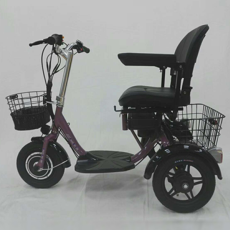 12 inch electric 3 wheeler middle aged scooter folding