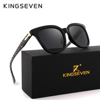 KINGSEVEN Sunglasses Women Accessories Cat Eye Style 2017 Leopard Brand Designer Fashion Shades Black UV400 SunGlasses