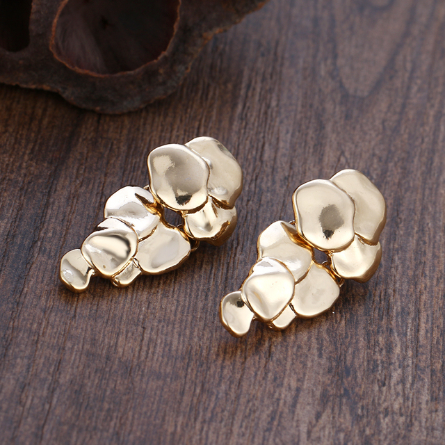 Golden Grape Stud Earrings