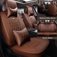 2018 новые кожаные универсальный автомобильный чехол для сиденья для Audi a4 b5 b6 a6 c5 a3 a4 b8 a6 c6 q5 q7 аудио Авто сиденья автомобильный протектор Аксес