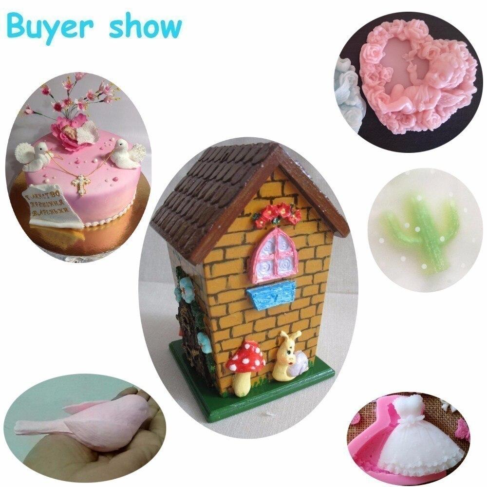 3 Pcs//set Mujiang Bird Silicone Cake Topper Molds Fondant Cake Decoration Molds Set