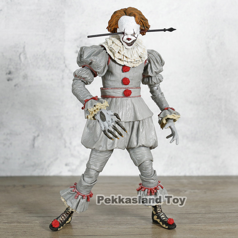 Neca 1990 VER Original Stephen Kings It Pennywise Joker clown Scary Face Horror Action Figure Toys DollsNeca 1990 VER Original Stephen Kings It Pennywise Joker clown Scary Face Horror Action Figure Toys Dolls