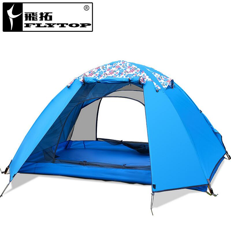 Outdoor Hiking and walking fishing tent Travel waterproof double layer 1-2 person tent camping equipment 1.8kg brand 1 2 person outdoor camping tent ultralight hiking fishing travel double layer couples tent aluminum rod lovers tent