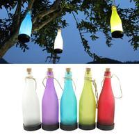 5 בקבוק יין פקק יחידות\סט LED שמש מופעל אור תחושה תלייה חיצונית גן מנורת מפלגת קישוט