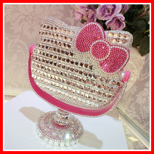 Fashion Hello Kitty Cosmetic Mirror Makeup Vanity Table Makeup Mirror Of  Makeup Desktop Personalized Compact Mirror With Handle. Hello Kitty Vanity Table Promotion Shop for Promotional Hello