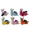 12 pçs/set 6-Color Cilindro Shell Protegido de Alta Qualidade Pincéis de Maquiagem Conjunto Fundação Blush Sombra Delineador Pincel de Maquiagem Kits