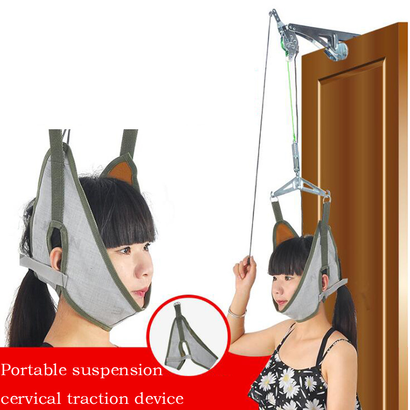 Portable Suspension Cervical Retractor Correction Cervical Brace Home Traction Chair Health Care Seniors Protection Summer