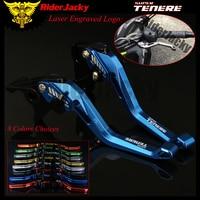 RiderJacky 3D Rhombus Hollow Adjustable Motorcycle Brake Clutch Levers For Yamaha SUPERTENERE/XT1200ZE SUPER TENERE 2012 2017