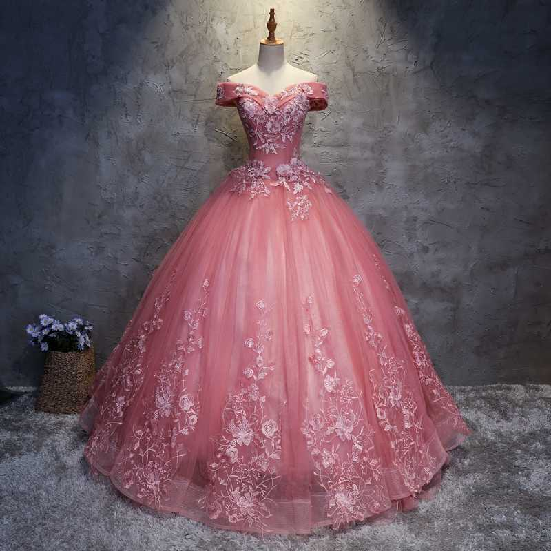 c725675230 Nude Pink Quinceanera Dresses Sweet 16 Dresses For 15 Years Off Shoulder  Ball Gowns Prom Dresses Vestidos De 15 Anos