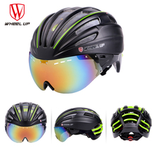 WHEEL UP New Integrally Aerodynamic EPS Lens Cycling Helmet Ultra-Light Mountain Bike Helmet MTB Bicycle Helmet Bike Accessories