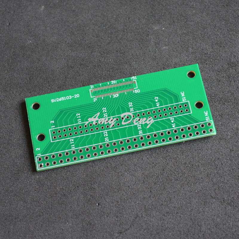 10pcs/lot Free shipping Within 51pin 0.3mm 2.54 DIP FPC LVDS 2 spacing MIPI LCD cable adapter plate