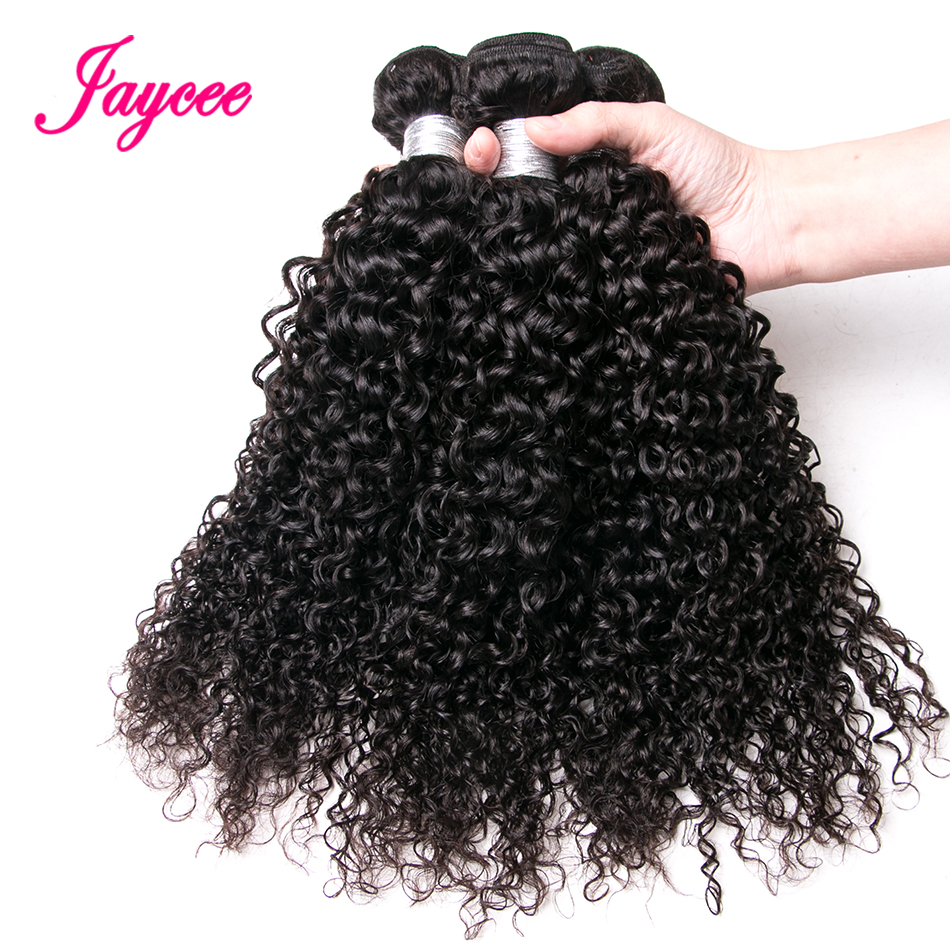 Jaycee Hair European Curly Wave Natural Color Remy Hair 100% Human Hair Weave Bundles Extension Suitable Dying All Colors