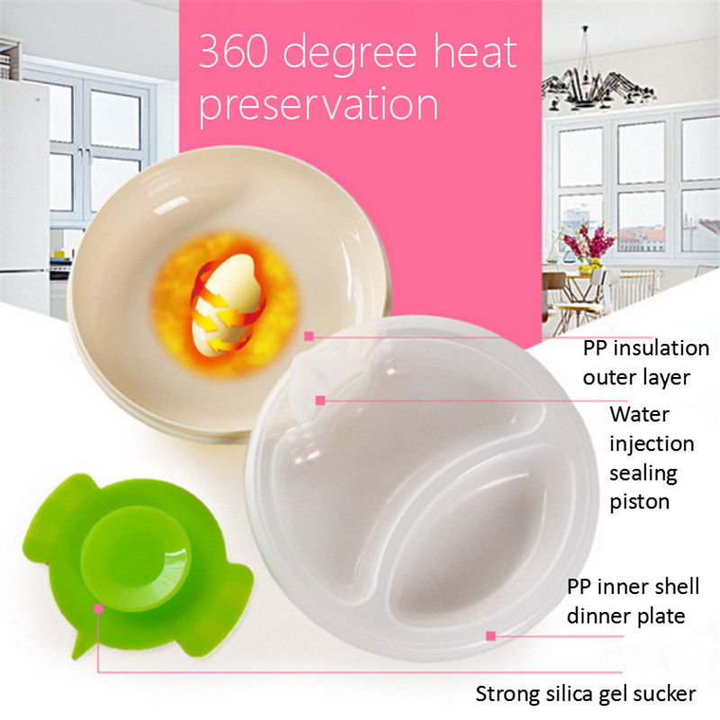 PP Plastic Dinner Plates Keep Food Warming Dishes Kids Dinner Plates Serving Tray Tableware Will Send A Strong Silica Gel Sucker-in Dishes u0026 Plates from ...  sc 1 st  AliExpress.com & PP Plastic Dinner Plates Keep Food Warming Dishes Kids Dinner Plates ...