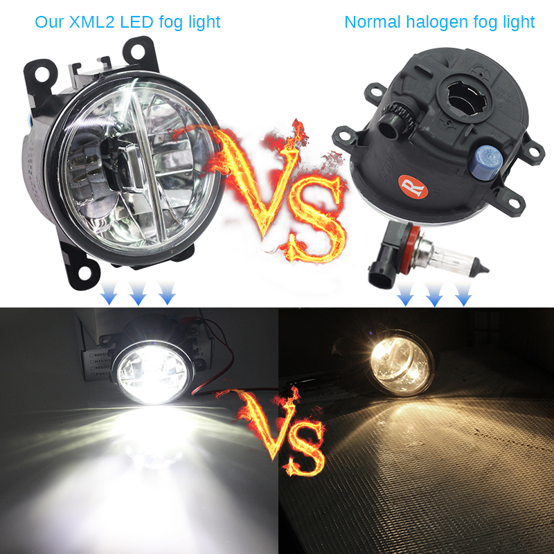 Buildreamen2 2 Pieces Car Accessories LED Lamp Fog Light Daytime Running Lamp DRL White 12V For Subaru Outback 2010 2011 2012
