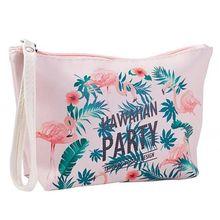 Animal Flamingo Cosmetic Bag Women PU Make Up Travel Waterproof Wish Organizer Portable  Toiletry Kits Makeup