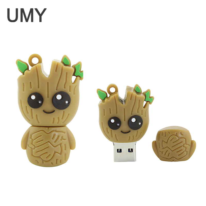 Usb Flash Drive Cartoon Stick Groot Pen Drive 4gb 8gb 16gb 32gb Pendrive Best Creative Gift Cle Usb 2.0 Memory Disk Stick
