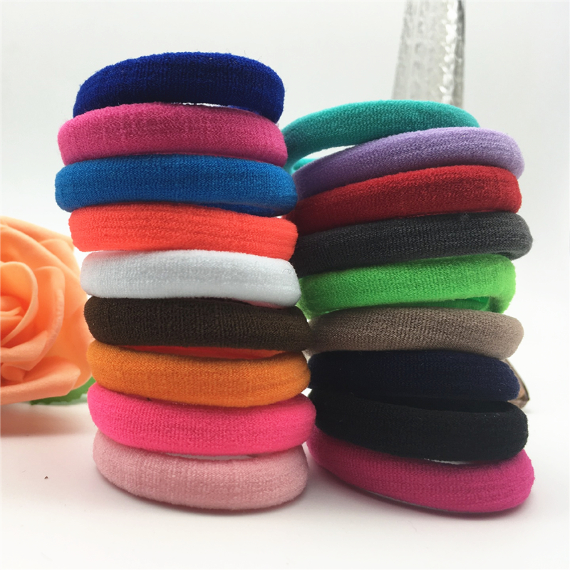 10/20/24/30/40/50/100pcs Colorful Elastic Hair Band   Headwear   Hair Accessorie Elasticity Holders Rubber for Girls Hair Rings Rope