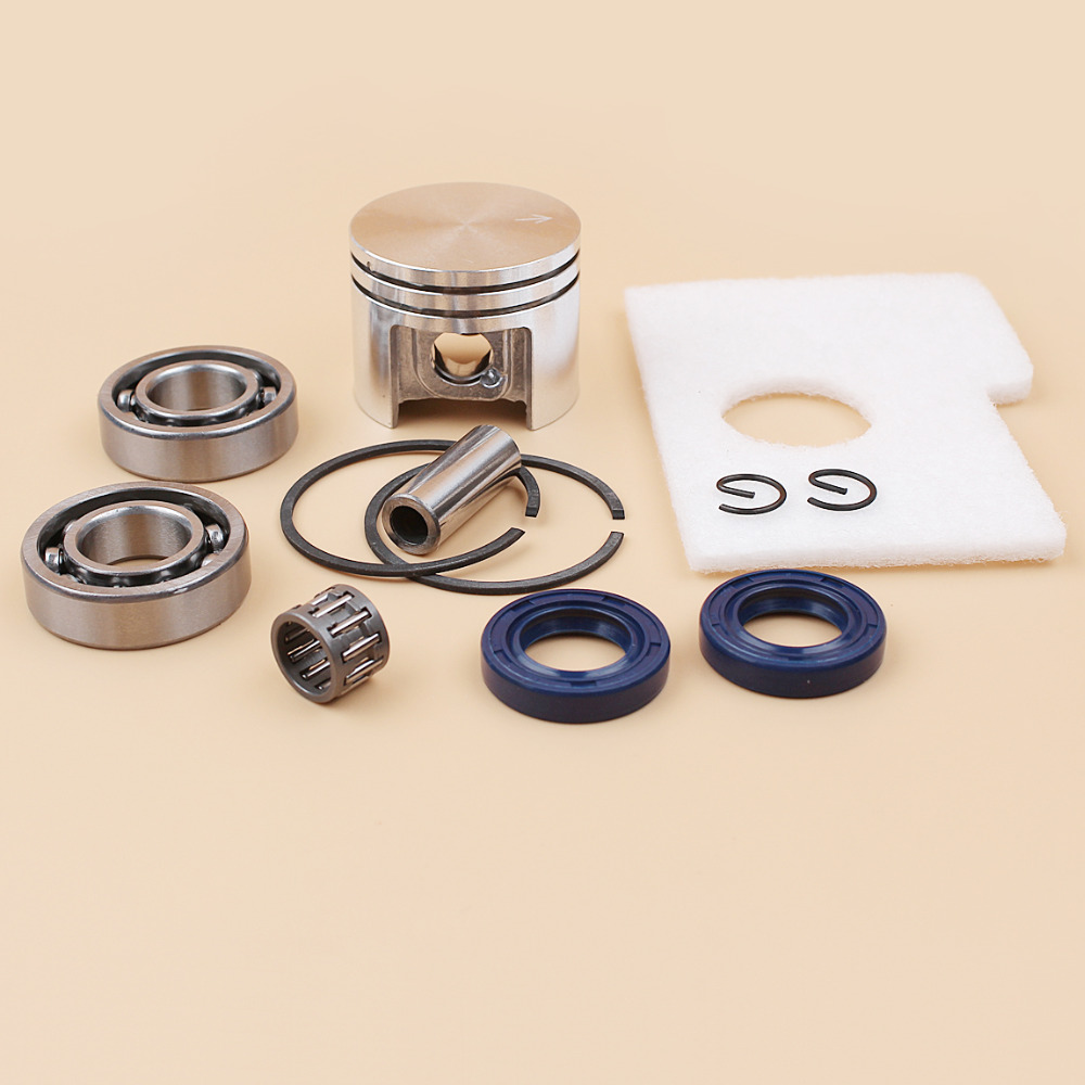 Motor Piston Crankshaft Oil Seal Bearing Air Filter Kit For Stihl MS180 MS 180 018 Chainsaw Spare Parts 38mm in Chainsaws from Tools