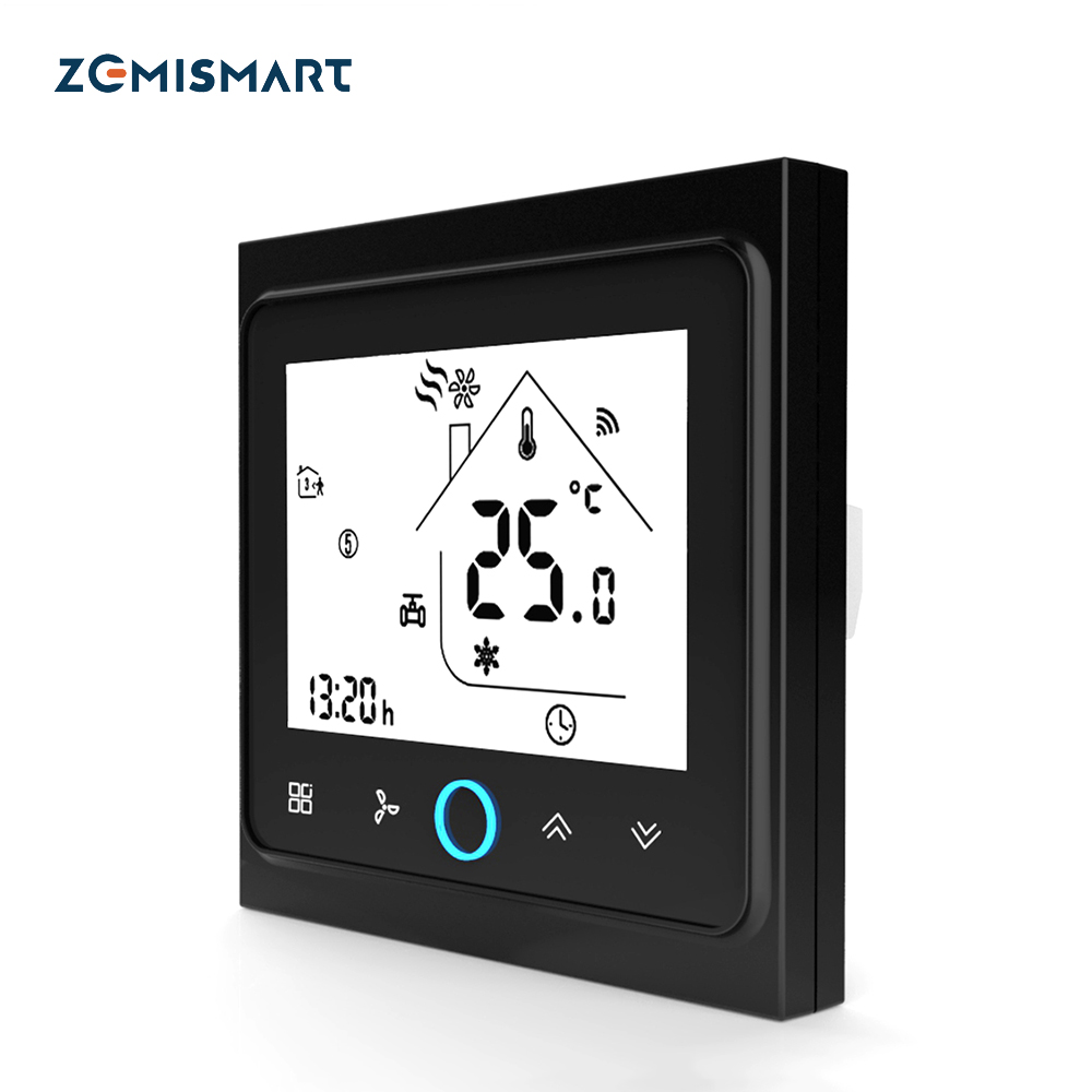 Zemismart Air Condition AC Thermostat Compatile With Alexa Google Home Programmable Switch For Central Air-conditioning