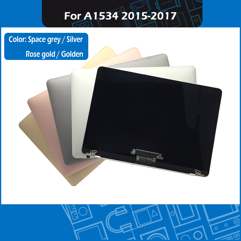 Original A1534 LCD Screen Assembly for Macbook Retina 12 A1534 Display Assembly Golden Silver Grey Rose
