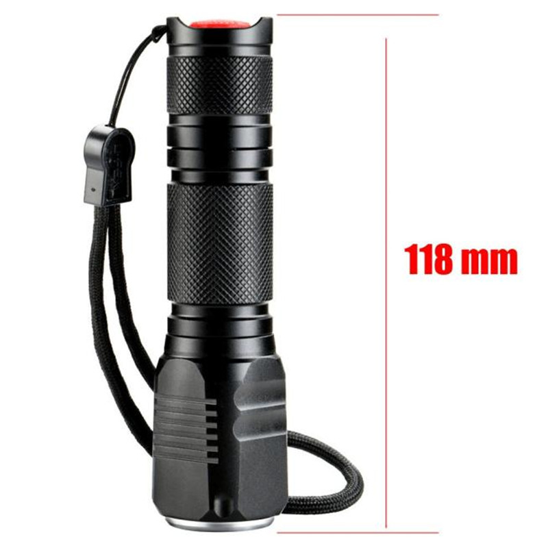 4000LM Zoomable XML Q5 LED Light 18650 Flashlight Cycling Bicycle Bike Hand Front Torch Zoom Lamp 3 Modes Skid-proof M25