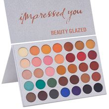 Beauty Glazed Eye Makeup Nudes Palette 40 Color Matte Eyeshadow Highly Pigment Shimmer Glitter Cosmetic