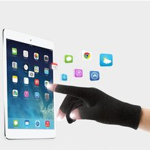 Women Men Touch Screen Winter Gloves Keep Warm Gloves Solid Color Cotton Warmer Smartphones Driving Gloves(China)