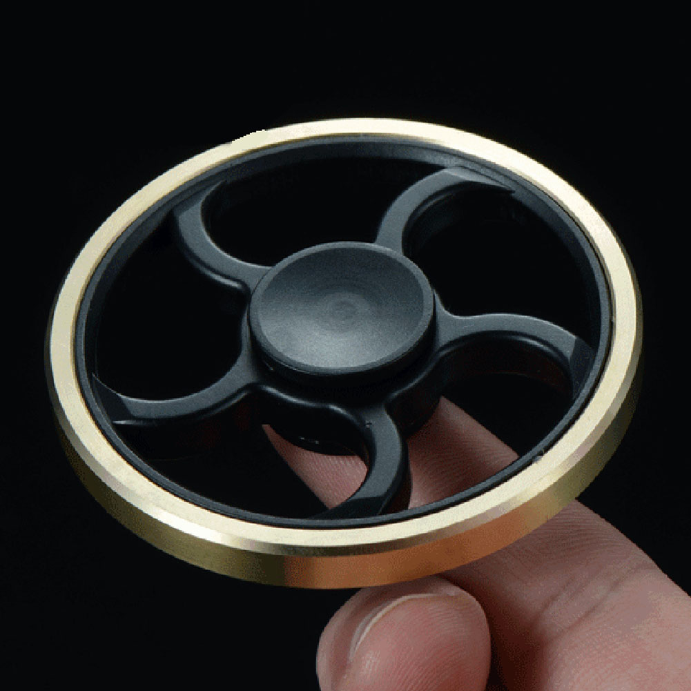 Fingertip Gyro Decompression Fidget spinner Copper Five Leaf Stent EDC Tool Hand Anxiety Stress Relief Toys Fidget Spinner