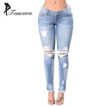 f7433e2be74a1 Femmes Skinny Slim crayon Jeans femme taille basse trou gland pantalon dame  grande taille grande hanche pantalon fille casual él.