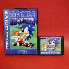 Sonic The Hedgehog The Lost Worlds 16 bit MD card with Retail box for Sega MegaDrive Video Game console system(China)
