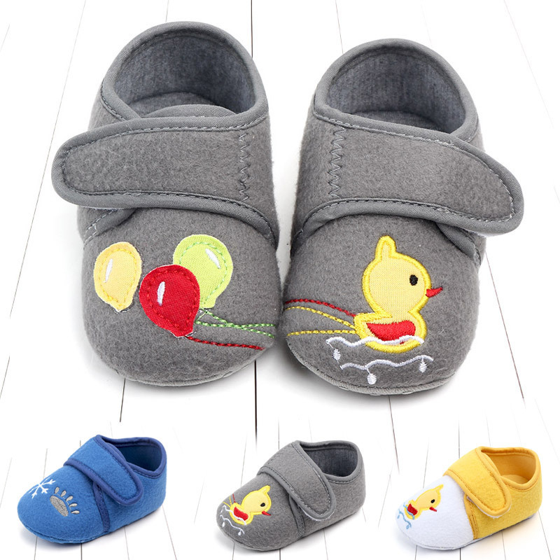 Cartoon 0 1 Year Baby Shoe Study Walking Shoes Baby Keep Warm Non Slip No Drop Children's Shoes 2138