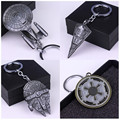 Hot Movie Star Wars Star Trek Spaceship Keychain Millennium Falcon Serenity Firefly Warships Key Ring Metal