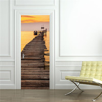 Sunset Molo 3D Naklejki Ścienne Naklejka Art Decor Vinyl Wymienny Plakat Sceny Okna Drzwi Hurtowni Darmowa Wysyłka RJL13 # A10