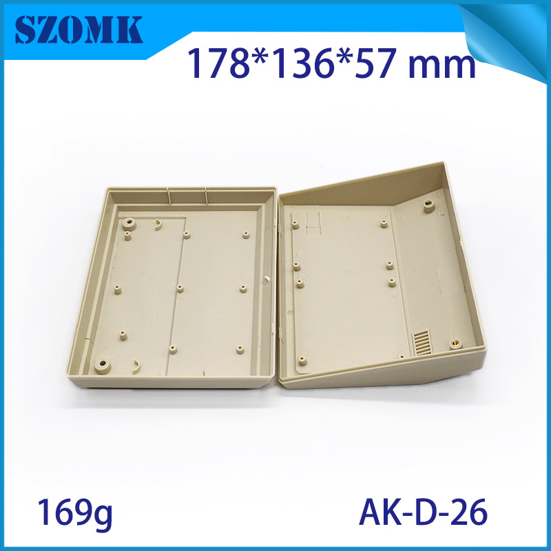 1 Piece Free Shipping Abs Plastic Enclosures Housing For Electronics For Desk Top Housing 180x136x58mm Junction Box Housing Case