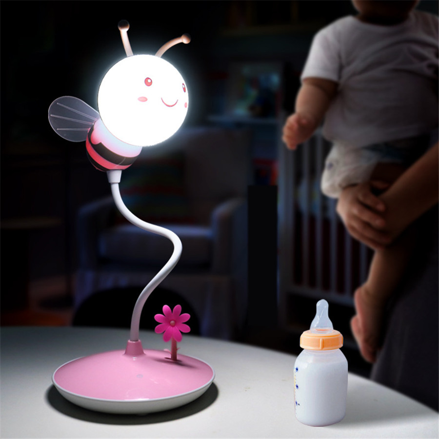 Novelty-Animal-Bee-Kids-Nightlight-LED-Touch-Sensor-USB-Rechargeable-Table-Lamp-3-Levels-Dimming-Beside (3)