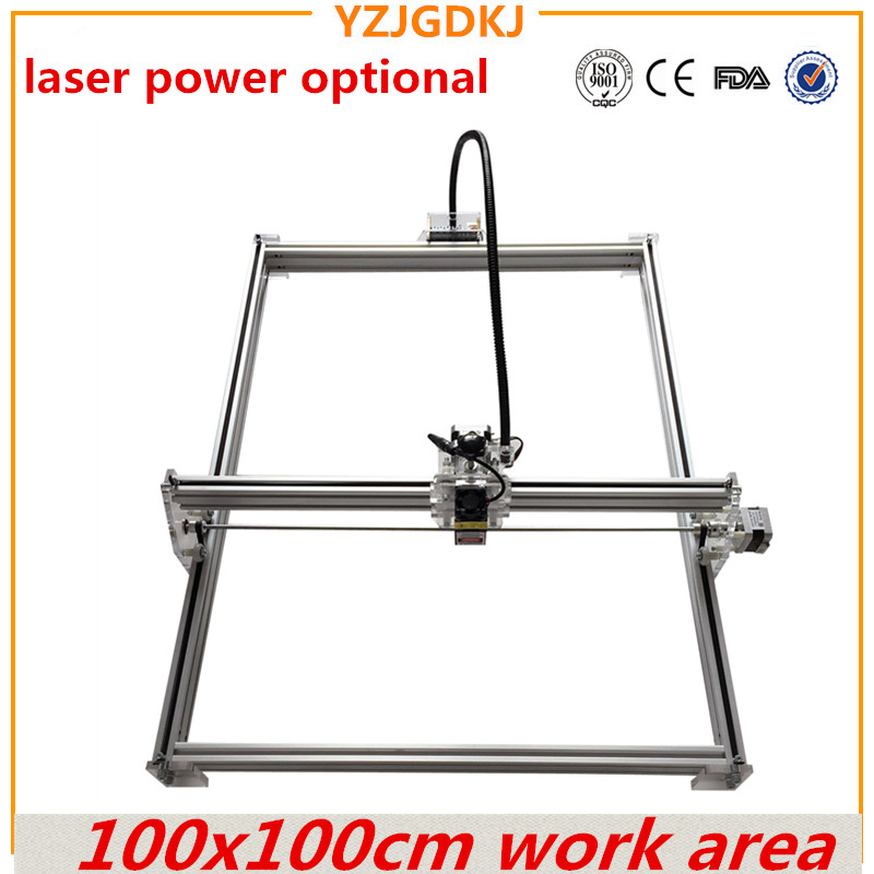100x100cm work area laser engraving machine ,metal marking laser engraver ,for cutting software easy to use laser power optional