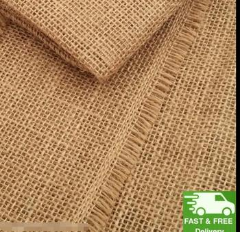 100% Natural Raw Hessian Jute Burlap Fabric Superior Quality Material 130cm wide Free Shipping