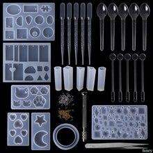1 סט אפוקסי שרף ערכת DIY תכשיטי ליהוק כלים סיליקון עובש בעבודת יד שרשרת תליון צמיד מתנות Creative מקצועי