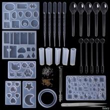 1 Set Epoxy Harz Kit DIY Schmuck Casting Werkzeuge Silikon Form Handgemachte Halskette Anhänger Armreif Geschenke Kreative Professionelle