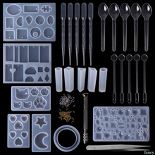 1 takım epoksi reçine kiti DIY takı döküm araçları silikon kalıp el yapımı kolye kolye bileklik hediyeler yaratıcı profesyonel