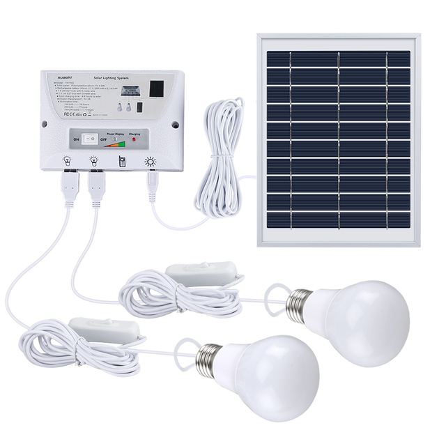 US $49 88 30% OFF|Suaoki Multi Function Solar Mobile Lighting System  Portable Light Kit Home Outdoors Camping Tent Emergency Charging Mobile  Phone-in