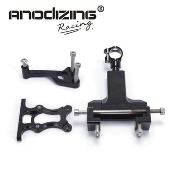 black color Adjustable  Steering  Damper with Bracket Mount kit For YAMAHA MT07 FZ07 2014-2017